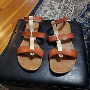 Never worn strappy sandals